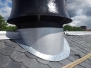 Vahl Skole: Dobbeltfalset Skivetekking og beslagsarbeider på tak og fasade